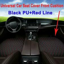 Car Seat Cover Front Cushion Black PU+Red Line Universal Auto Chair Accessories