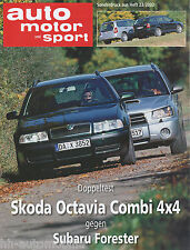 Sonderdruck ams 23 02 Test Škoda Octavia Combi 4x4 Subaru Forester Skoda 2002