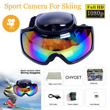 12M Pixel 1080P Ski Skiing Skate Sport Goggles Glasses Sunglasses Video Camera