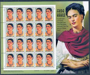 3509 Frida Khalo Artist Unfolded PO Fresh Mint NH