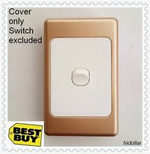 GOLD COVER GOLDEN FRAME PLATE FOR LIGHT SWITCH POWER POINT WALL PLATE POWERPOINT