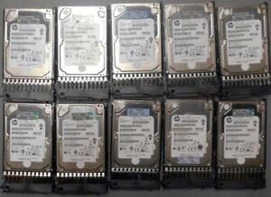"""HP 689287-002 450GB 6G SAS 10K SFF 2.5"""" SC Enterprise HDD, 581310-001(LOT OF 10)"""
