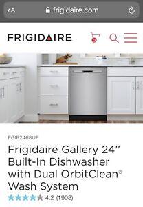 "BRAND NEW Frigidaire FGIP2468UF 24"" Stainless Steel Full Console Dishwasher"