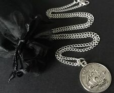 "Coin Jewellery English Half Penny Coin Necklace Trendy 16"" 18"""