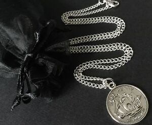 """Coin Jewellery English Half Penny Coin Necklace Trendy 16"""" 18"""""""