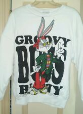 Vintage Jerry Leigh Groovy Bugs Bunny Hippy Double-Sided Sweater Adult Size M