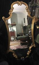 Vintage Hollywood Regency/Italianate Gilded Wall Mirror - Unique Shape