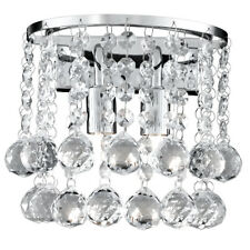 Searchlight Hanna 2 Lights Chrome Round Crystal Ball Wall Fitting Bracket Light
