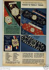 1972 PAPER AD Watch Baseball Major League Snoopy Smiley Face Clock Alarm Radio