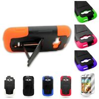 For Samsung Galaxy Ring M840 Prevail 2 Hard + Silicone Hybrid w Stand Cover Case