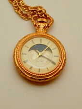 Rare Majestron Sm Pendant Necklace Womens Moon phase Quartz Watch New NOS 1990s