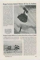 1940 Magazine Article Swiss Santis Aerial Tramway Switzerland Gondola
