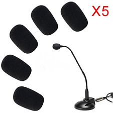 ANiceSeller 5 x 5 Pack Small Mic Microphone Windscreen Soft Foam Mic Cover Skin