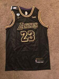 LeBron James XL Los Angeles Lakers Black Mamba Bubble Edition Jersey w/Gigi #2