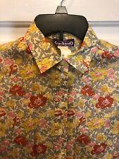 10. Cacharel liberty Arts Fabric Floral shirt size 36 XS