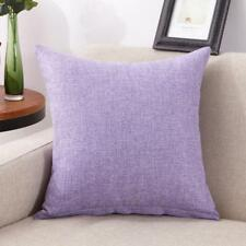 1X Cotton Linen Pillow Case Sofa Waist Throw Cushion Solid Cover Home Sofa Decor