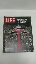 Life Magazine October 15th 1965 In Color Pope Paul VI In America Cover    mg1111