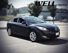 WellVisors For 10-13 Mazda 3 Sedan Black Trim Side Window Visors Deflectors