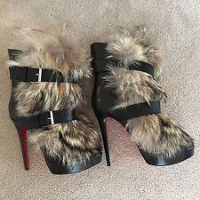 Christian Louboutin Toundra Fur Boots Sz 42