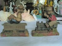 Two Vintage Tom Clark Figurines One Personally Signed