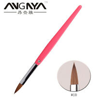 Acrylic Nail Art Brush Acrylic Handle Sable Hair Brushes Fashion Nail Tool 10#