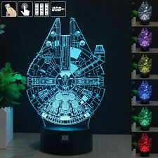 Star Wars Millennium Falcon 3d Acrylic LED Night Light Desk Table Art Lamp Gift 1