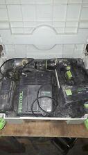 Festool c12 Trapano senza fili 12 Volt 2 batterys E CARICABATTERIE