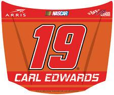 NASCAR #19 Carl Edwards Hood Shaped Magnet-NASCAR Magnet-NEW for 2016!