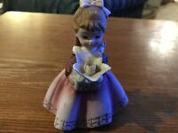 "Vtg Ceramic Figurine from Lefton China Light Brown hair  4"" tall KW7227"