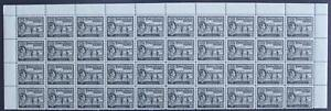 TURKS & CAICOS ISLANDS-1938 ¼d Black Block of 40 Sg 194 UNMOUNTED MINT V41809