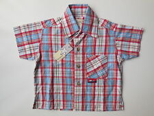 MARQUISE BABY BOY COTTON CHECK SHIRT SIZE 00 FITS 3-6M RRP $29.95