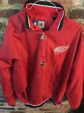 DETROIT RED WINGS 1/2 Zip Pullover Jacket 1990's STARTER XL - VINTAGE - NWOT