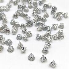 100 Stück Perlenkappen 6x4,5mm Kappen Perlen platin Farbe Perlkappen K-1014