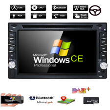HD 2 DIN In Dash Car Stereo DVD Player with GPS Navigator BT IPOD Radio
