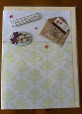 Get Well Soon Greeting Card with Cream Envelope - Hope You Feel Better Soon
