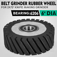"Belt Grinder Rubber Wheel for Knife Making Belt Grinder 6"" in Diameter & 2"" Wide"