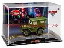 New Disney Store Pixar CARS 2 SARGE Jeep Diecast Replica in Collectors Case 1:43