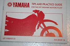 Yamaha motorcycle nos riding tips booklet 1992-98 rt180 3vc-2819t-10