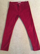 COMPTOIR DES COTONNIERS Rendezvous deep red skinny stretchy cords UK 15 VGC £130