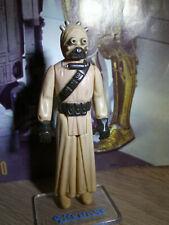 "Star Wars Vintage Figur - Tusken Raider - Mis-aligned ""G"" - DARK BROWN - 1977"