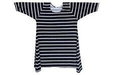 Plus Size 30 Winter Black with White Stripes Causal Comfy Dress Fit 1647 Size 5