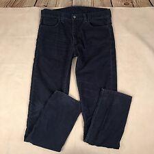 Levis Mens 511 Corduroy Pants Cords Navy Blue Skinny Tall Size 36x34