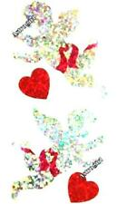 ~ Sparkle Silver It/'s a Girl Teddy Bear Rattle Hambly Studio Glitter Stickers ~