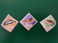posta romana set of 3 bird stamps