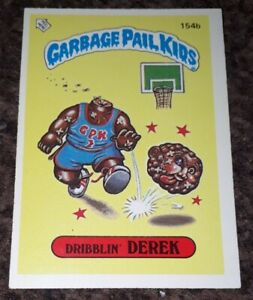 Garbage Pail Kids - 154b Dribblin' Derek Sticker