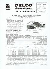GM Delco 1957 Chevy Wonderbar Radio 987577 Service and Parts Bulletin