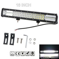 "16"" 432W Three Row 7D LED Work Light Bar Spot Flood Combo FOR SUV JEEP ATV hot"