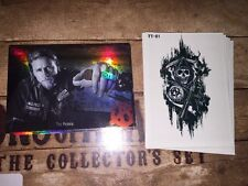 Sons Of Anarchy Trading Cards Seasons 1-3 Tattoo & Foil Cards Complete Sets.