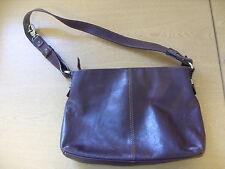 "Ladies Handbag Gianni Conti brown leather shoulder bag 13x9x3"" & handle 32"" 3364"