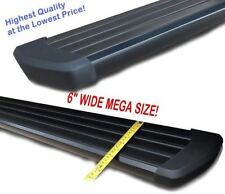 """04-14 Ford F-150 Crew Cab 6"""" Black Running Side Step Boards Nerf Bars"""